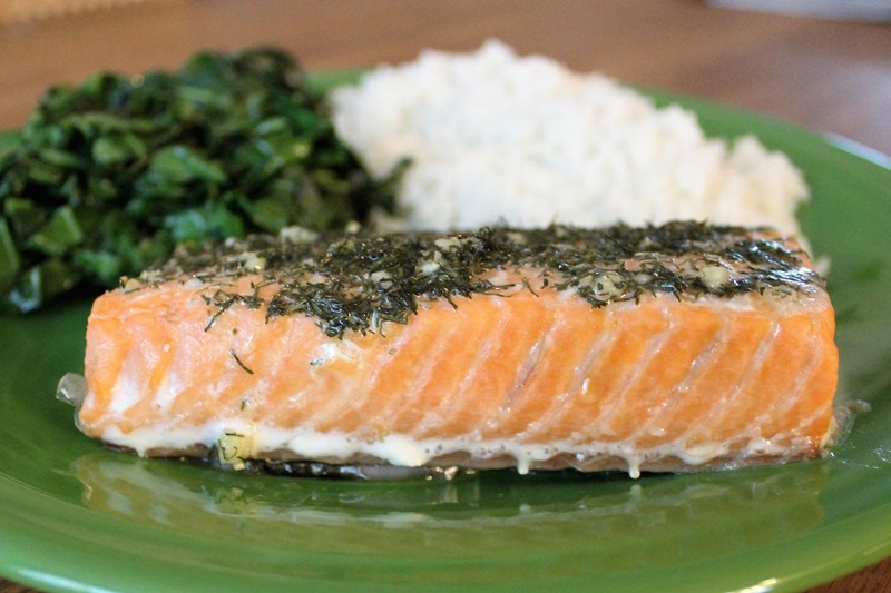 dill and garlic salmon 2