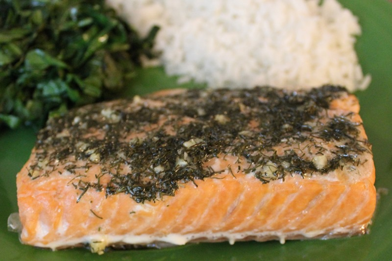 dill and garlic salmon 3