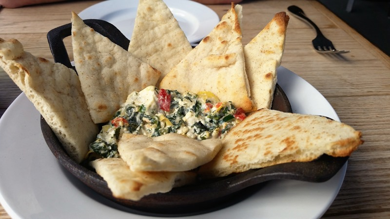 Eat on North artichoke and spinach dip