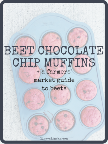 Beet Chocolate Chip Muffins + A Farmers' Market Guide To Beets {Guest Post}