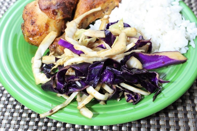plated cabbage salad