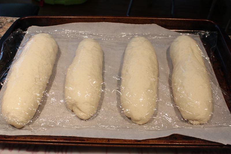 rising baguettes