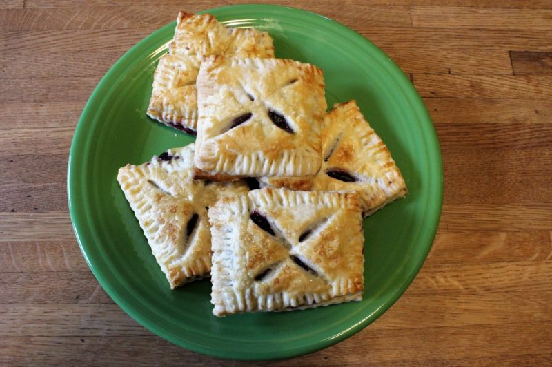 July's King Arthur Flour #Bakealong: Blueberry Hand Pies