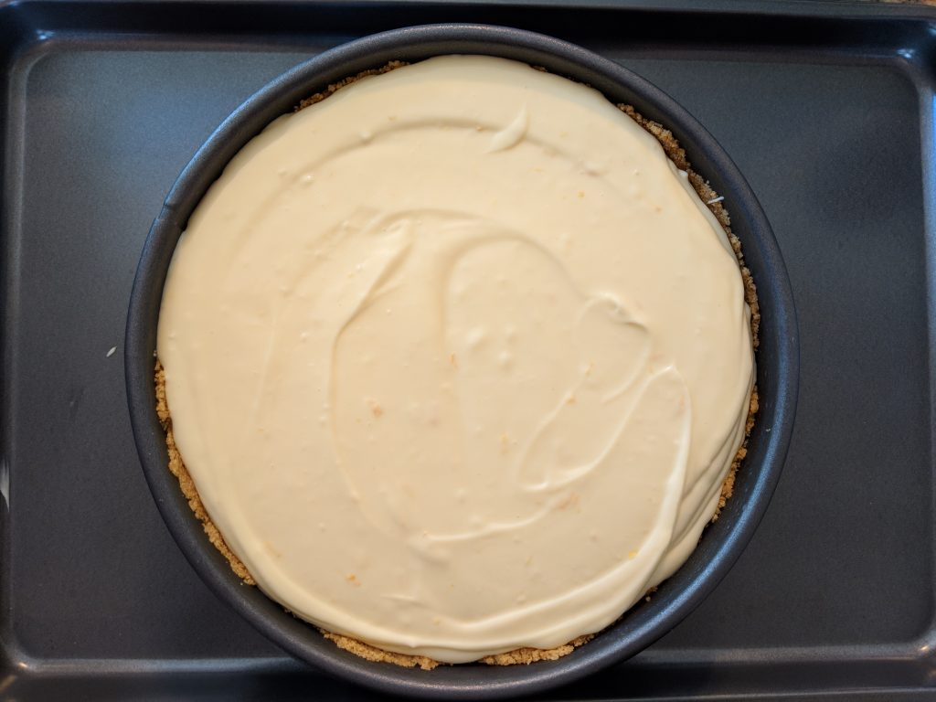 filled but not baked cheesecake